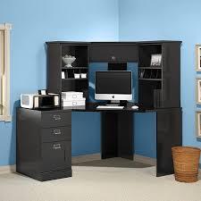 Black Desks With Hutch Black Corner Desk With Hutch Image Desk Design Black Corner