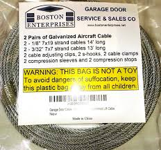 amazon garage door cable replacement kit two inch amazon garage door cable replacement kit two inch foot long and galvanized aircraft cables