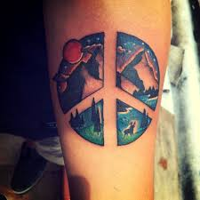peace sign and nature tattoo venice tattoo art designs tattoos