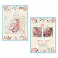 pixie newborn announcement card photoshop templates for