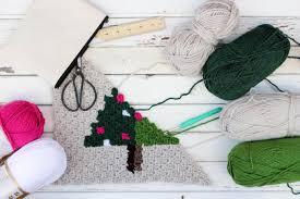 corner to corner crochet christmas tree free pattern