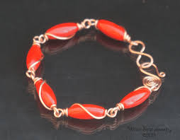 copper jewelry bracelet images Magma red coral and copper bracelet png