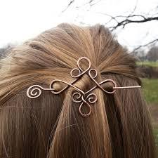 hair slide celtic knot celtic hair slide rustic copper hair by gingerystones