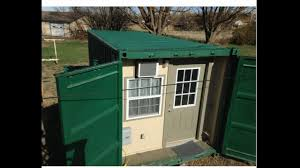 stealth conex tiny container house youtube