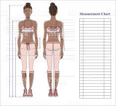 woman body measurement chart scheme for measurement human body for