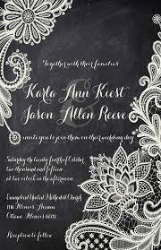 Wedding Invitations Ottawa Rush Lace Chalkboard Wedding Invitations Black And White