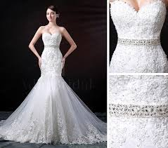 lace mermaid wedding dress stunning tulle sweetheart neckline mermaid wedding dress with