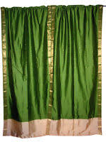 Two Different Colored Curtains Sari Curtains Ebay