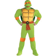 Michelangelo Ninja Turtle Halloween Costume Michelangelo Muscle Costume Size Teenage Mutant Ninja Turtles