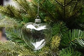 6 x hanging clear shape glass baubles ornaments