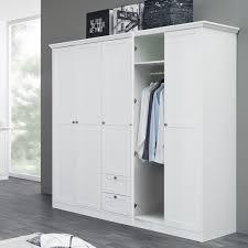 Schlafzimmerschrank Zerlegen Kleiderschrank Landström 19 Weiß 190x200x67cm Drehtürenschrank