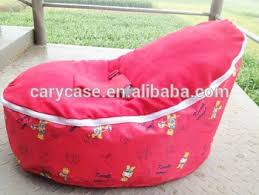 red bear with red cover seat bean bag baby bean bag fat sack bean
