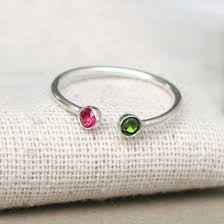 s day birthstone rings dual birthstone ring two birthstone ring couples ring sterling
