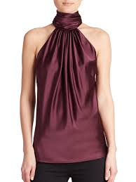 sleeveless tie neck blouse lyst ramy brook tie neck sleeveless blouse in