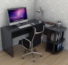 kristen corner l shaped computer desk in black