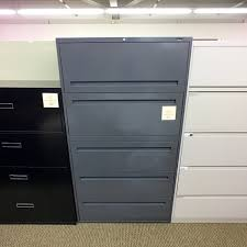 Used Lateral File Cabinets Used Boulevard 5 Drawer 36 Lateral File Cabinet Gray Fil1476