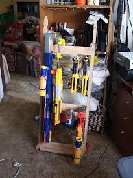 Nerf Gun Rack This is my new Nerf gun rack to store my mod…