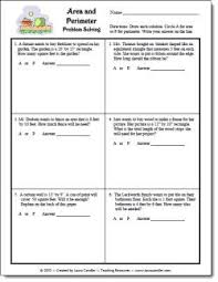 best ideas of area and perimeter word problems worksheets with