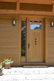 Frame Exterior Door Douglas Fir Entry Door With Walnut Accents Custom Entry Doors
