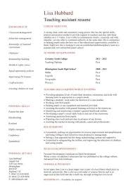 Sample Resume Teachers by Teacher Assistant Resume Sample Resume For Teacher Assistant