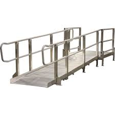 Wheelchair Ramp Handrails Pvi Modular Xp Aluminum Wheelchair Ramp Systems Discount Ramps