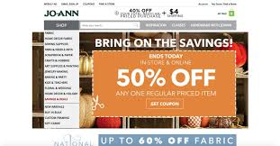 joann fabrics website jo fabric coupon codes discount codes save up to 45