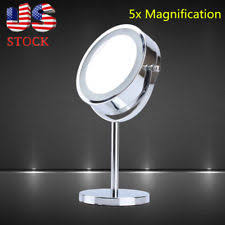 jilbere lighted makeup mirror jilbere de paris mini counter mirror 5x magnification easy folds for
