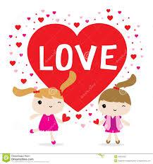 imagenes de amor con muñecos animados vector lindo del personaje de dibujos animados de la muchacha del