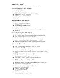 resume skills communication skills and abilities resume resume for study