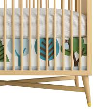 dwellstudio crib skirt canvas owls dwell studio mid century crib