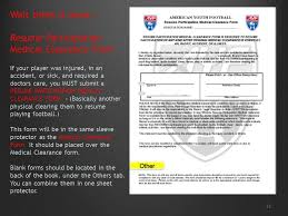 Football Resume American Youth Football Ppt Video Online Download