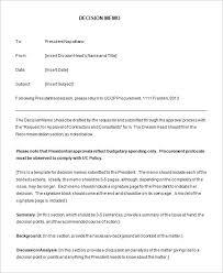 8 decision memo templates u2013 free word pdf documents download