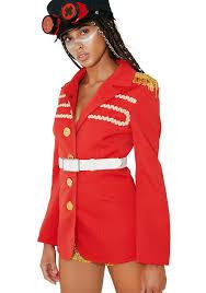 vintage red military jacket dolls kill