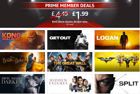 amazon prime member deals movies for 1 99 inc kong skull island