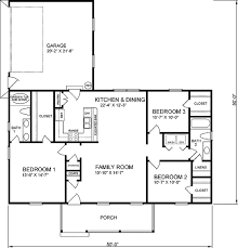 ranch style house plan 3 beds 2 00 baths 1200 sqft 21 327 bedroom