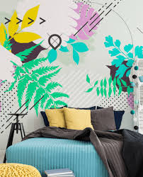 Abstract Wall Mural Abstract Floral Wall Mural Eazywallz