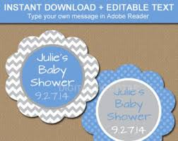 Baby Shower Favor Messages - pink elephant baby shower tags editable baby shower hang