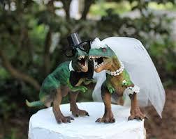 dinosaur wedding cake topper dinosaur topper etsy