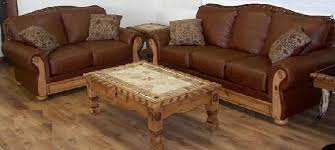 Rustic Leather Sofa by Rustic Furniture Depot Home