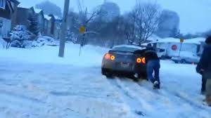nissan gtr price in canada canadian snowstorm dominates the nissan gtr youtube