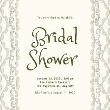 bridal shower bridal shower invitation templates canva