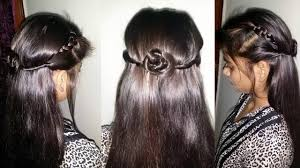 simple hairstyle how to do simple party hairstyle youtube