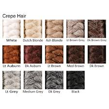 crepe hair for making wigs moustaches or beards
