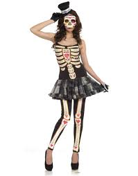 day of the dead female halloween costume one size