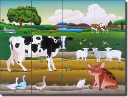 Ceramic Tile Mural Backsplash by Ceramic Tile Mural Backsplash Del Rio Farm Animal Farmhouse