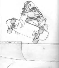 skateboarding 3 coloring page