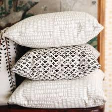 pillow in albert white on natural sister parish design