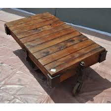 Rustic Industrial Coffee Table Rustic Industrial Coffee Table Wood Cart Fabrizio Design All