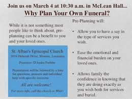 funeral pre planning st alban s episcopal church february 2017
