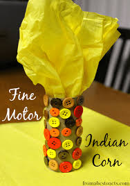 thanksgiving crafts for motor indian corn from abcs to